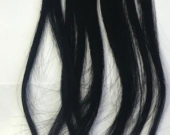Black U Tip Remy Nail Tips Human Hair Fusion Tip Hair Extensions Jet Black 10 Strands 5 Strand 20 Keratin Tip 1g per Strand 15 in Highlights