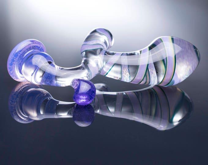 Glass Prostate Massager - Large - Purple Ribbon