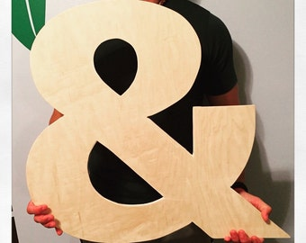 """Ampersand, and symbol, &, weddings, anniversaries, monograms, wall decor, boyfriend gift, wooden symbols and letters, logogram, """"and"""""""