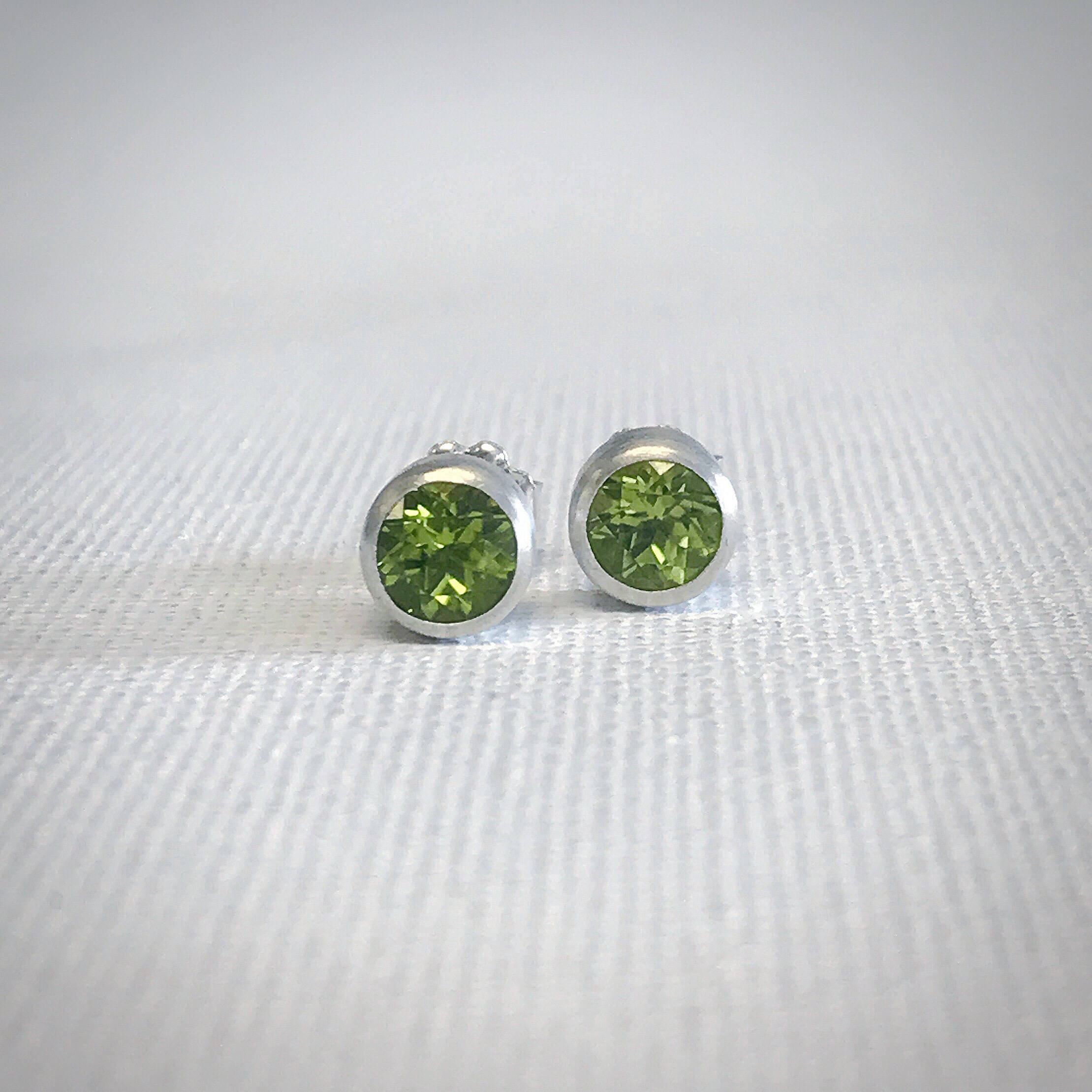 cushion studs halo stud diamond peridot earrings