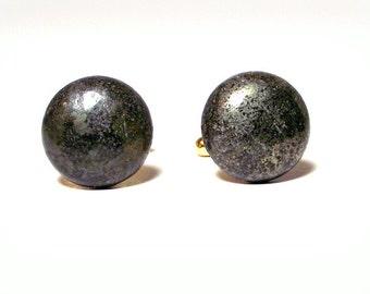 Fool's Gold – Round Pyrite Cuff Links - Men's Pyrite Cuff Links