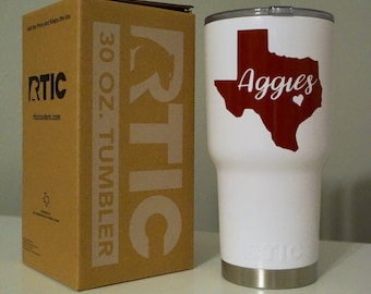 Aggie Inspired 30 or 40 oz. RTIC Tumbler