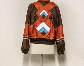 90s aztec windbreaker