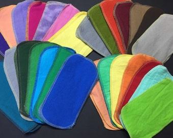 MamaBear Reusable Cloth Wipes (Unpaper) Set - Baker's Dozen - Solid Sets