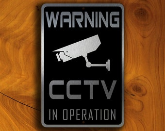 CCTV Surveillance Sign, 24 Hour CCTV signs, Security Sign, Monitored Video Surveillance Sign, CCTV Sign, Video Surveillance, Home Security