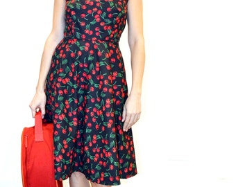 Fifties Cherry lovers style dress