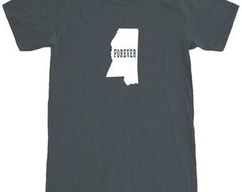 Mississippi Forever T-Shirt Men's Cotton T Shirt Short Sleeve Tee SEEMBO