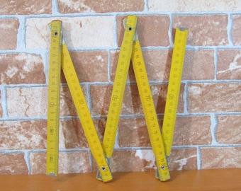 Vintage meter, Vintage Ruler, Wooden folding meter, Vintage tool, Carpenter ruler, Measuring tool, Wooden ruler, Rustic home decor