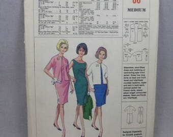 Vintage McCall's Sheath Dress and Jacket Promo for Helene Curtis Suave Products Misses Size Medium  Factory Fold