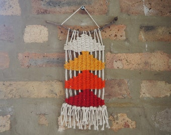 Woven Wall Hanging - Sunset Triangles