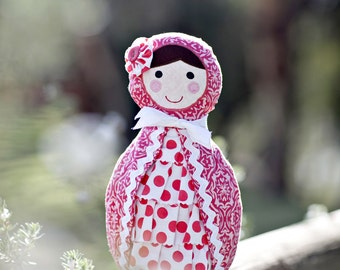 Babushka Doll Pattern. PDF Sewing Pattern. Home Decor, Doorstop, Book Ends, How to Make Russian Matryoshka Dolls. DIY by Angel Lea Designs