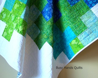 Baby Quilts For Sale-Baby Boy Quilt-Baby Shower Gift-Handmade Baby Quilt-Quilts for Sale-Modern Baby Quilts For Boys-Ready to Ship