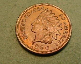 1896 Indian Head Cent UNC  / Insurance included in SH  <>ET5937
