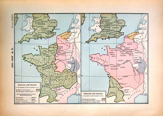 1888 historical map england and france philip augustus in like this item gumiabroncs Image collections