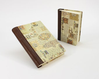SCRIPTORIUM Hardcover Journal Notebook with Genuine Leather Spine