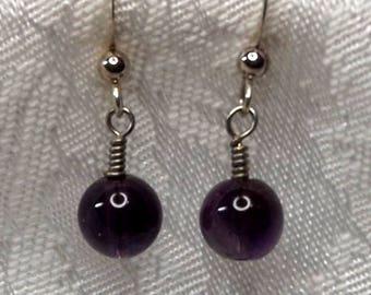 AAA Amethyst Earrings, Deep Amethyst Earrings, Top Grade Amethyst Earrings, Purple Earrings, Amethyst Earrings, Amethyst