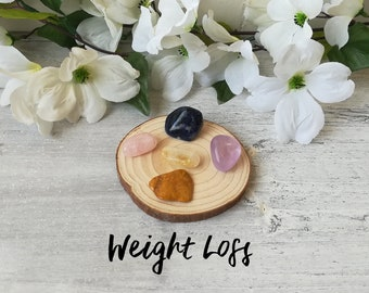 Crystal Bag For Weight Loss | Crystal Kit | Healing Crystals | Crystal Gifts | Weight Loss Crystals | Amethyst | Citrine | Rose Quartz