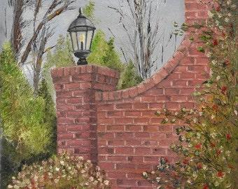 "Original Artwork - ""Drayton's Wall"" (16"" x 20"" Canvas Print) From Original Oil Painting"