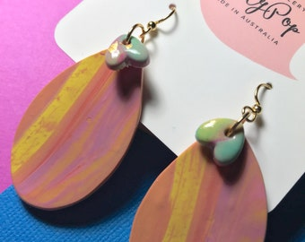 Rainbow Icecream Polymer Clay Earrings from Dotty Pop.