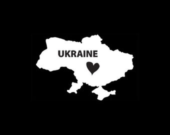 Ukraine Window Decal