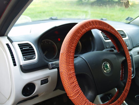 Basketball steering wheel cover Football wheel cover Steering