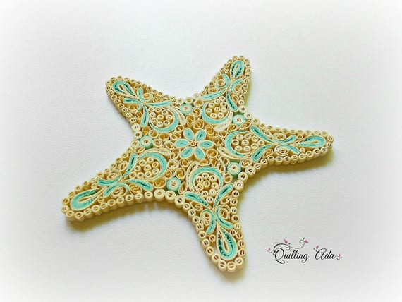 Quilled paper starfish paper art home decor summer