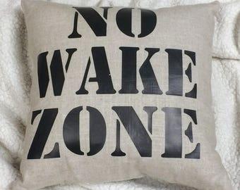 No Wake Zone Throw Pillow/Lake House Decor/Cabin Decor/Nautical Pillows/Beach Home Decor/Outdoor Throw Pillows/Decorative Throw Pillows