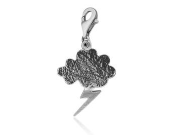 Sterling Silver Lightning Charm • Handmade Charm for bracelets • Perfect Gift for Women • Pendant Lightning Charms Gift for Her