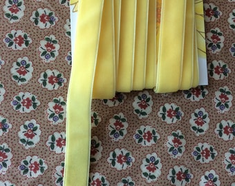"New Yellow Velvet Ribbon Trim 11/16"" wide x 3 yards long"