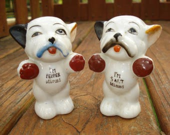 Bulldog Salt and Pepper Shakers from Miami