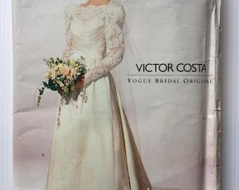 Vintage Vogue Victor Costa Bridal Original sewing pattern 2618 - Misses' wedding or evening floor length dress - size 12-14-16