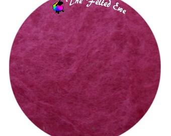 Needle Felting Maori Wool Batt / FB55 Raspberry Rapture Maori Wool Fluffy Batt