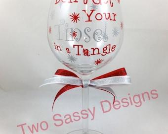 Christmas Wine Glass, Holiday Wine Glass, Christmas Wine Glass, Holiday Wine Glass, Christmas Gift, Holiday Gift, Christmas Party