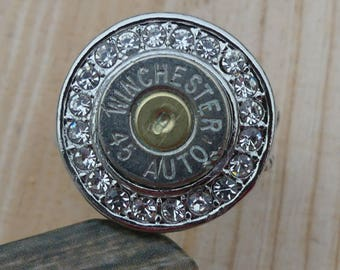 Round 45 Caliber Shell Casing Bullet Ring