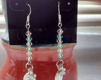 ON SALE Swarovski crystal earrings