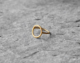 open karma ring, sterling silver ring, circle open ring, simple ring, gold ring, infinity ring