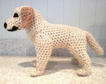 Crocheted Labrador Retriever PDF Pattern - Digital Download - ENGLISH ONLY