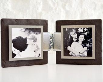 Welsh Slate Funky Frame Duo Kit - Pewter Colour