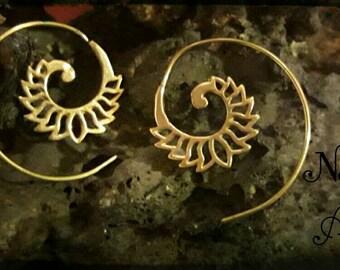 Spiral Brass Earings