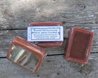 Bentonite Clay Home Made Soap - Handmade Soap - SLS Free Pure Glycerin - Goat's Milk Soap Essential Oils - Artisan Handcrafted Face Soap
