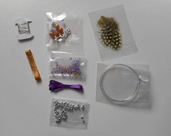 Kit - create your jewellery - making for a pair of earrings
