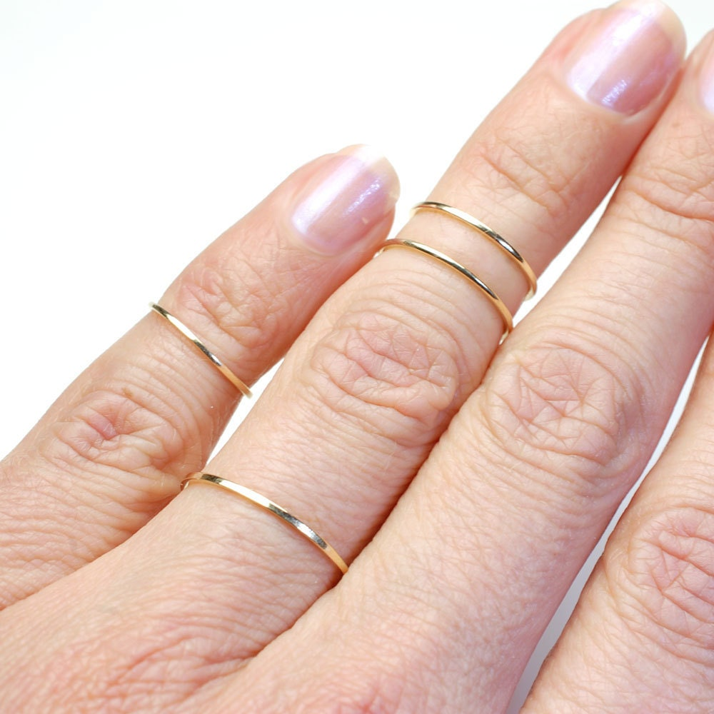 Rings Gold Rings Gold Bands Top Finger Rings Small