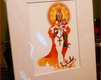 La Virgen de la Caridad del Cobre Color Print (2013)