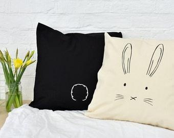 Easter Bunny Cushion Cover - Easter Gift - Home Gift - Gift for friend - Funny Cushion - Easter Cushion - Animal Cushion [ECSHN-001]