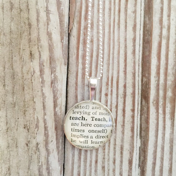 Teach tiny humans definition necklace vintage dictionary teach tiny humans definition necklace vintage dictionary pendant teacher gift dance teacher keepsake jewelry college professor mozeypictures Gallery