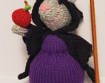 Witch Mouse - Knit Doll