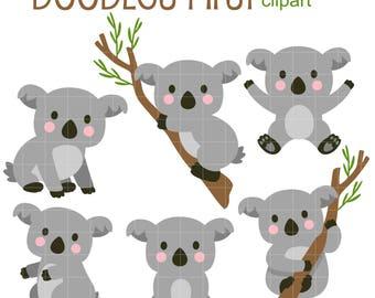 cute koala clipart etsy rh etsy com koala clip art free koala clipart black and white