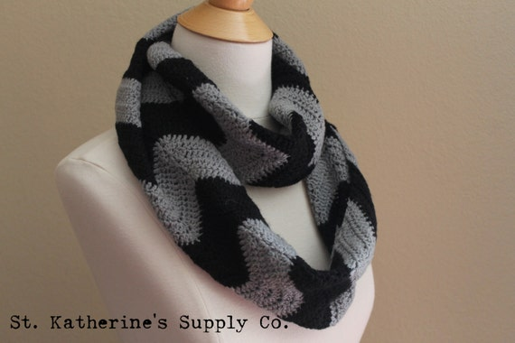 Pdf Crochet Pattern Cambridge Chevron Infinity Cowl Scarf