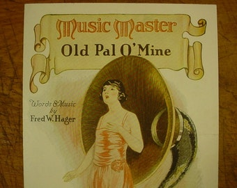 Sheet Music Old Pal O' Mine Early Radio Advertising Music Sheet Music Master Radios Antique Vintage