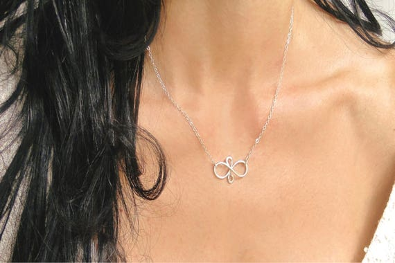 Friendship Infinity Necklace in Sterling Silver, Best Friends Necklace, Infinity Necklace, Infinity Jewelry, Teen Jewelry